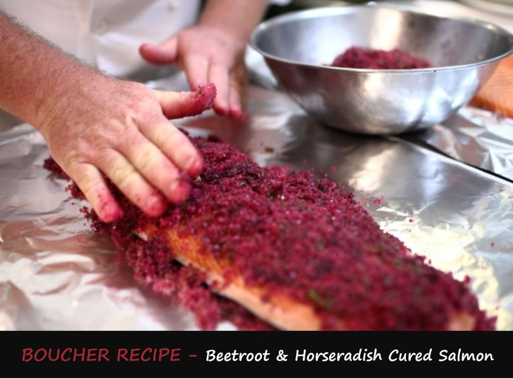 Boucher Recipe - Beetroot & Horseradish Cured Salmon